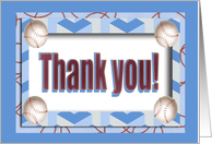 Thank you to Baseball Coach, Four Baseballs card