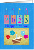 Years of Fireworks, 2014, Birthday on New Year's Day, Custom Text card