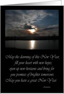 Sun on the Lake, New Year card