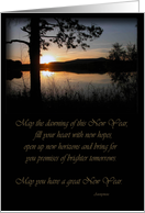 Mountain Lake, New Year card