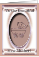 Baby Carriage, Congratulations to Sister on becoming a new Mother card