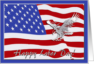 Eagle and Flag, Labor Day Card