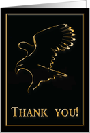 Gold Eagle, Thank you for your Service! card