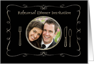 Rehearsal Dinner Invitation Photo Card, Place Setting card