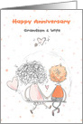 Grandson & Wife Wedding Anniversary Sweet Couple card