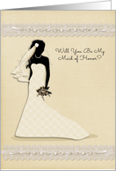 Maid of Honor, Wedding Party Invitation card