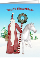 Saint Nicholas, Horse, Happy Sinterklaas card