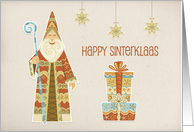 Saint Nicholas, Presents, Happy Sinterklaas card
