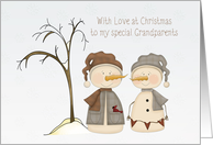 Snow Couple, Christmas, Grandparents card