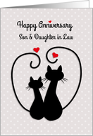 Love Cats, Happy Anniversary, Son, Daughter in Law card
