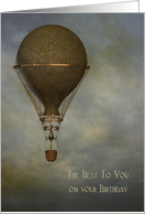 Steampunk, Hot Air Balloon, Birthday card