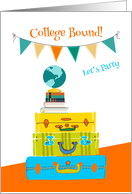 Going to College, Travel Theme Invitation card