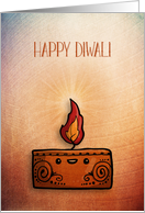 Diwali Candle with Textured Look card
