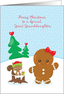 Great Granddaughter Christmas Gingerbread Girl card