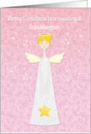Angelic Christmas Customize Granddaughter card