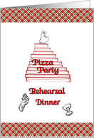 Pizza Rehearsal Dinner card