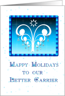 Holiday Thank You Letter Carrier card