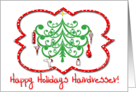Happy Holidays Hairdresser card