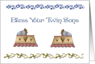 Interfaith Twin Boy Blessing card