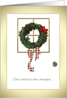 Christmas Address Change card