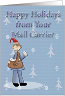 Happy Holidays From Mail Carrier card