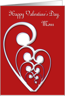 Valentine Mom card