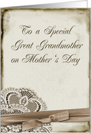 Great Grandmother Mother's Day card