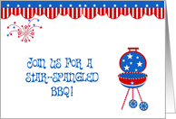Patriotic Barbecue Invitation card
