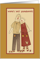 Primitive Folk Art Grandparents Day Card