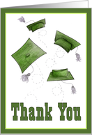 Graduation Thank You Card Green card
