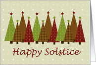 Calico Solstice Trees Card