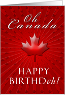 Happy Birthday Canada card
