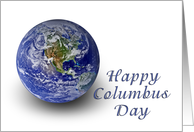 Happy Columbus Day, World card