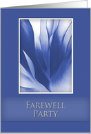 Farewell Party Invitation, Blue Abstract on Blue Background card