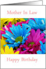Happy Birthday Mother In Law with bouquet of flowers card