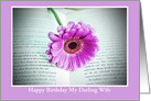Happy Birthday to my Darling Wife with flower in book card