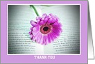 Thank you Thanks Appreciation Thank You with gerbera in book card
