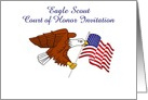 Eagle Scout court of honor invitation with custom text card