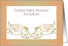 Double Baby Shower Invitation custom text card