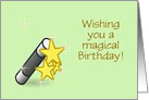 Wishing you a magical Birthday with wand card