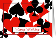 Happy Birthday bridge card game playing cards