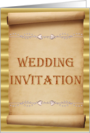 Wedding Invitation - Scroll card