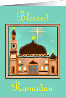 Blessed Ramadan Temple card