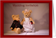 Wedding Invitation - Bears card