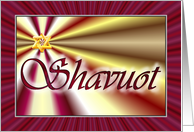 Shavuot blessings card