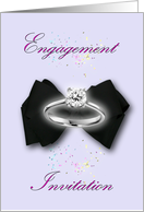 Engagement Invitation Engagement ring bowtie card