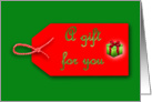Christmas gift tag Xmas gift tag ribbon A gift for you card