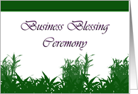 Business Blessing Ceremony, Business Blessing Invitation card