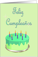 Feliz Cumplea�os Birthday Spanish Birthday card with Birthday cake card