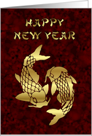 Happy New Year Vietnamese New Year Tet koi goldfish card